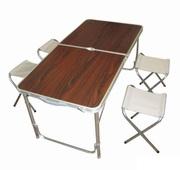 Стол туристический трансформер + 4 стула напрокат 120x60x70