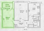 Сдам комнату с балконом 13, 2/8, 8,  в 2-х комнатной квартире. Серебрянка